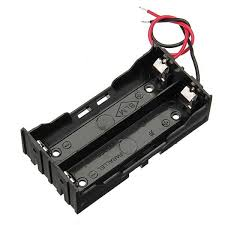 5pcs diy dc 7 4v 2 slot double series 18650 battery holder battery box with 2 leads rohs certification cod