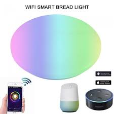 48w wi fi remote control ceiling lamp ac85 265v wiring led light works with alexa and google home white 41 50w changeable