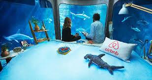 underwater hotel room at night. Airbnb Shark Aquarium Paris Ubi Bene Interior Underwater Hotel Room At Night