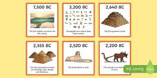 Timeline Printout Ancient Egypt Timeline Ordering Activity Egyptians Order
