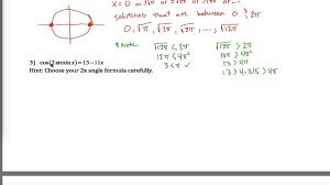 quiz worksheet trigonometric equations with identities print solve inverses worksheet