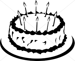 birthday cake clip art black and white. Brilliant White Simple Black And White Birthday Cake Inside Clip Art And R