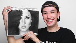 makeup artist tries drawing