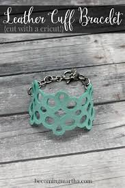 this diy leather cuff can be easily recreated at home with your cricut explore it cuts leather like er and the final product makes a great gift