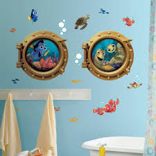 Disney Cars Bathroom Accessories Finding Nemo Bathroom Shower Curtain