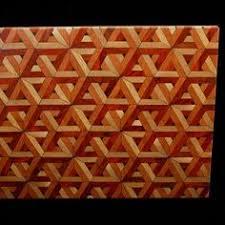 3d end grain cutting board plans. custom made geometric end-grain cutting board kit 3d end grain plans