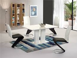 Round White High Gloss Dining Table And Chairs Starrkingschool - Contemporary dining room chairs