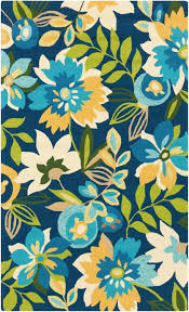 colorful area rug inspired by tropical flowers in aqua blue yellow and green on runner rugs western cabin s ikea rustic wildlife art deco company