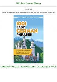 epub 1001 easy german phrases full pdf