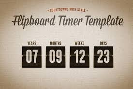 countdown templates flipboard countdown timer template design panoply