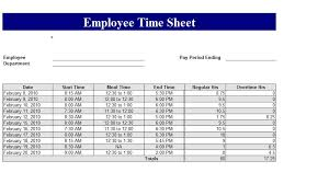 Employee Attendance Sheet In Excel For Office Excel Time Card Template