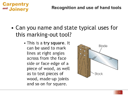 carpenter tools name. can you name and state typical uses for this marking-out tool. carpenter tools o