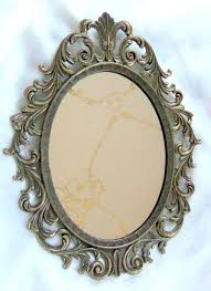 oval mirror frame. Antique Mirror Frame Oval Vintage Frameless