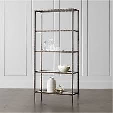 Glass shelves bookcase Cabinet Clairemont Glass Shelf Bookcase Crate And Barrel Bookcases Shelves Crate And Barrel