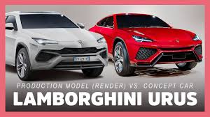 2018 lamborghini concept. contemporary lamborghini 2018 lamborghini urus suv production model vs concept car to i