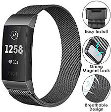 CAVN Compatible Fitbit Charge 3 <b>Strap</b>, Adjustable <b>Milanese</b> Mesh ...