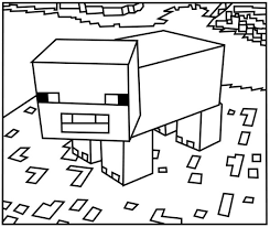 Small Picture Minecraft Sheep Coloring Pages Best Coloring Page 2017