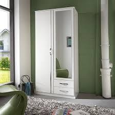 mirror wardrobe. candice mirror wardrobe in alpine white chrome with 2 doors_1