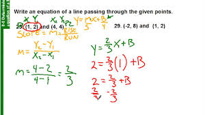 8 5 how to find the equation of a line with two points