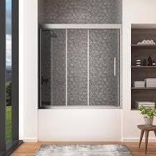 Shop OVE Decors Granada 59.0-in W x 59.0-in H Frameless Bathtub Door ...