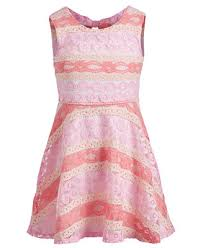Epic Threads Little Girls <b>Striped Lace Dress</b>, Created for Macy's ...