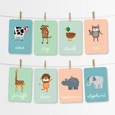 Useful for many colorful activities! Jungle Farm Animals Flash Cards Printable Kids Cards Etsy