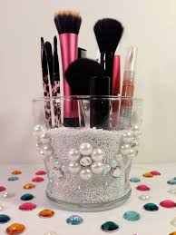 items similar to makeup brush holder clic white pearl flower makeup organizer beauty accessory and tool on etsy