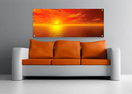 digital sea sky 2 acrylic on digital wall art uk with acrylic perspex art in red yellow and orange lucy art
