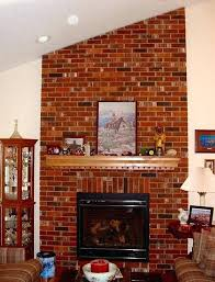 brick electric fireplace insert for faux