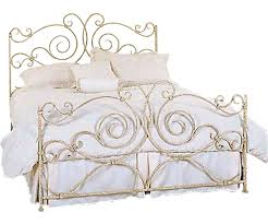 Gold Metal Bed Frames Metal Bed White Steel Bed Frame Rod Iron Queen ...
