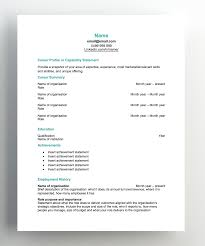 Outline For Resume For A Job Free Resume Templates