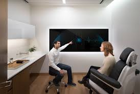 modern doctors office. Forward\u0027s Exam Rooms Are Sleek And Modern, With A Large Touch Screen On One Wall That Doctors Use To Go Over Patients\u0027 Information. Modern Office D