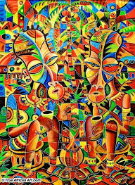 cameroon artist angu walters contemporary african paintings african art painting sherman financial