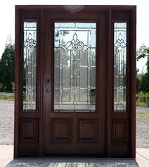 Decorating wood front entry doors with sidelights images : Mahogany Exterior door with sidelights n 200 mystic 6'8 | Doors ...