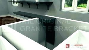 decorative countertop support brackets together with granite to prepare perfect floating home