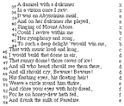page as the graphic arrangement too indicate the stanza is made up of lines of unequal length and i shall not enumerate here the various possibilities