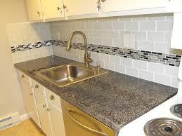 Kitchen Backsplash Subway Tile With Accent cool kitchen backsplash