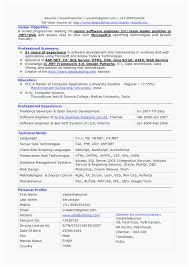 Sample Resume For Software Engineer With 6 Months Experience Elegant ...