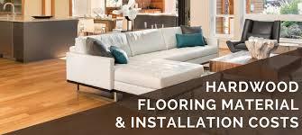hardwood flooring materials installation cost