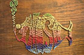 diy office gifts. This Lovely Crafty Home String Art Project Will Bring Color And Style To  Your Dad\u0027s Office Or Home. Craft A Piece That Represents Dad, Using Shapes Of Diy Gifts