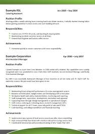 Resume Format For Hospitality Industry