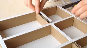 diy how to make a cardboard drawer organizer hd corrugated cardboard furniture you