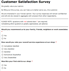 customer service satisfaction survey examples experience survey example barca fontanacountryinn com