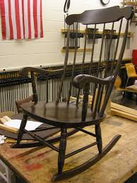 a maple rocking chair before and after