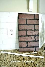 faux brick tile look copper subway fireplace ideas if you are looking for a brick floor