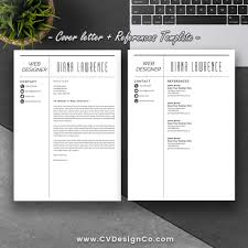 Resume Template Design Professional Simple Resume Template Best Selling CV Template 54