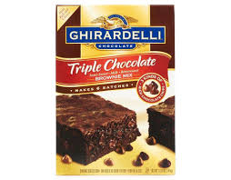 Ghirardelli Triple Chocolate Chip Brownie Mix 120 Ounce