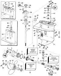 Evinrude Gearcase Parts For 1998 9 9hp E10eecc Outboard Motor
