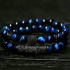 2018 New 2Pcs/ Set of Luxury <b>Natural Tiger Eye Stone</b> Bracelet ...