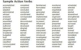 List Of Action Verbs Fascinating Good Action Verbs For Resumes Best